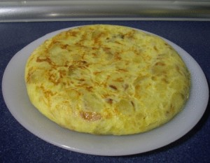 Tortilla de patata hecha por Josh