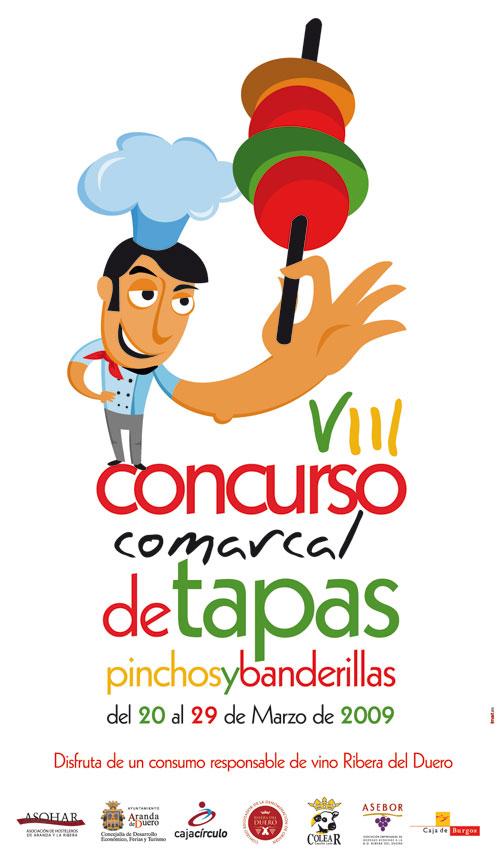 Cartel del VIII concurso comarcal de tapas pinchos y banderillas