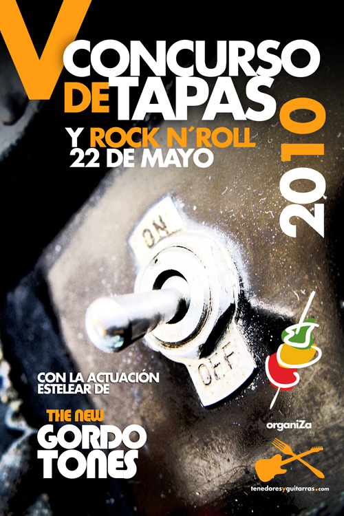 Cartel Concurso de tapas y Rock n roll 2010