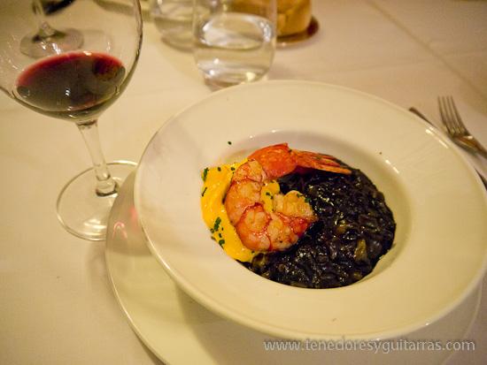 Comer en Salamanca - Arroz meloso con carabineros, chipirones y ali-oli